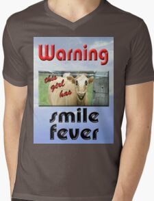 SMILE FEVER Mens V-Neck T-Shirt