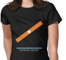 Station Georges-Vanier Womens Fitted T-Shirt