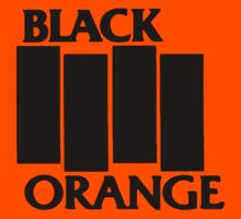 Black & Orange Flag by sflassen