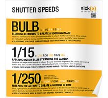 Understanding shutter speed. Poster