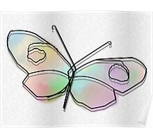 Wire Butterfly Poster