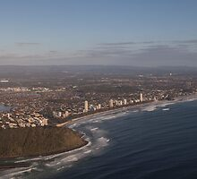 Burleigh From the air by Ron Finkel
