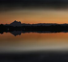 Sunset on the Tweed by Ron Finkel