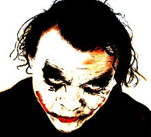 Heath Ledger as The Joker in The Dark Knight by jimfitz