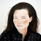 Freckle Faced natural Beauty Lucy Liu Portrait by jimfitz