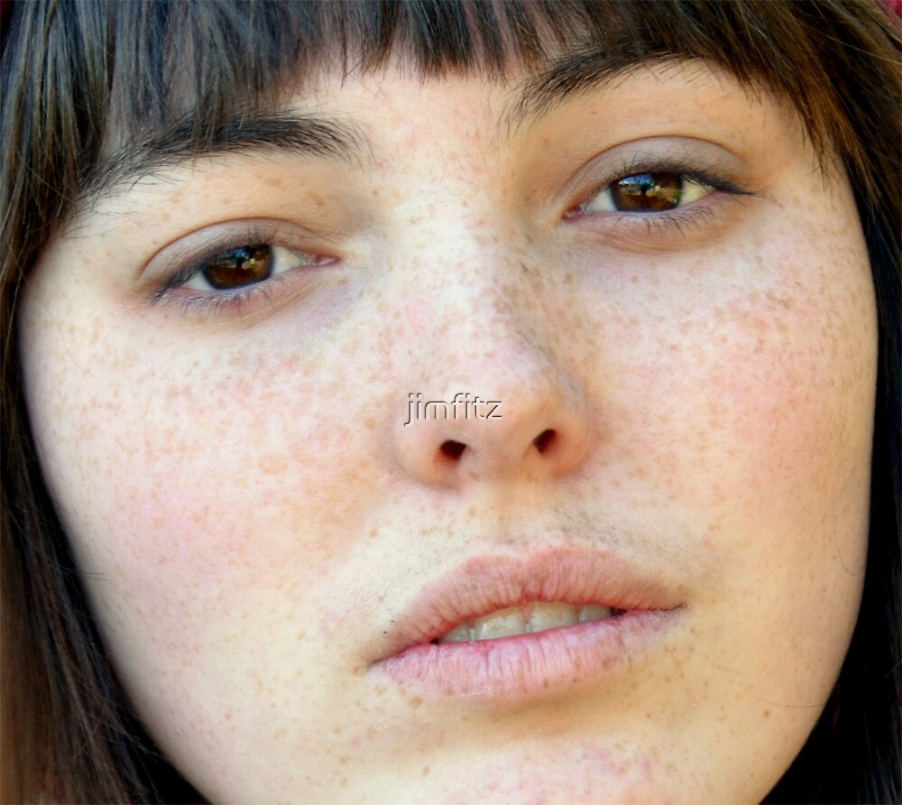 Freckle Faced Beauty and Model Lizzie Gunst upclose by jimfitz