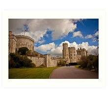 Windsor Castle Walkway Art Print