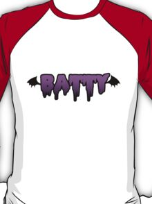 Purple and black batty font T-Shirt