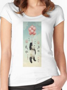 Pandaloons v2 Women's Fitted Scoop T-Shirt