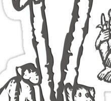 Apes - chimpanzees, Rainforest Rescue, animal welfare, palm oil Sticker