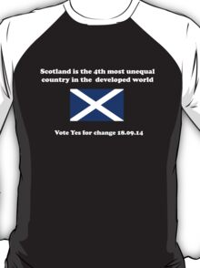 Vote for Change Scottish Independence T-Shirt T-Shirt
