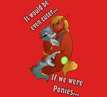 We should be Ponies Womens Fitted T-Shirt