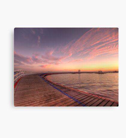 Sunrise over Promenade Canvas Print
