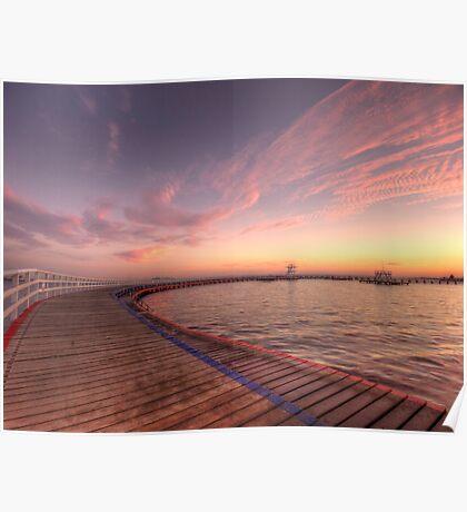 Sunrise over Promenade Poster