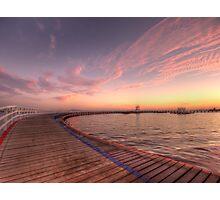 Sunrise over Promenade Photographic Print