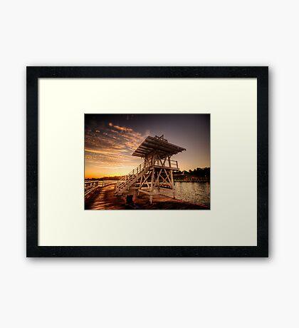 Dive Tower Rise Framed Print