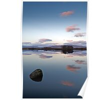 Rock and clouds Loch Ba Poster