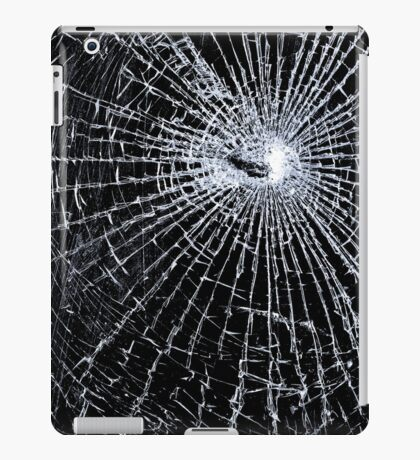 Broken Glass 2 iPad Black iPad Case/Skin