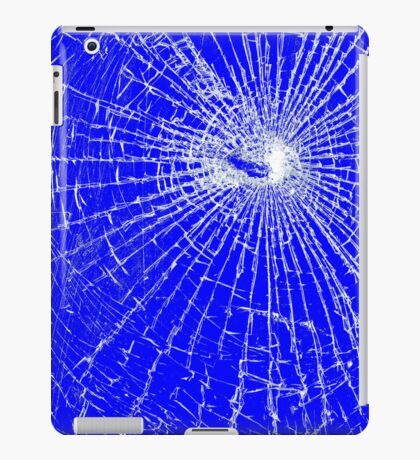 Broken Glass 2 iPad Blue iPad Case/Skin
