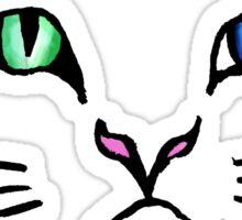 Cute Hand Drawn Kitten Face Sticker