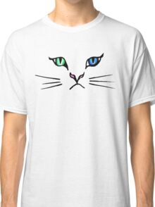 Cute Hand Drawn Kitten Face Classic T-Shirt