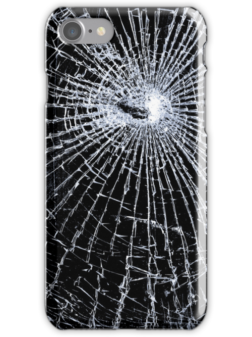 Broken Glass 2 iPhone Black by Brian Carson
