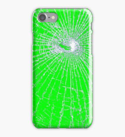 Broken Glass 2 iPhone Green iPhone Case/Skin