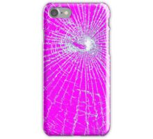 Broken Glass 2 iPhone Pink iPhone Case/Skin