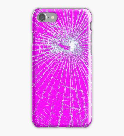 Broken Glass 2 iPhone Pink iPhone Case/Skin