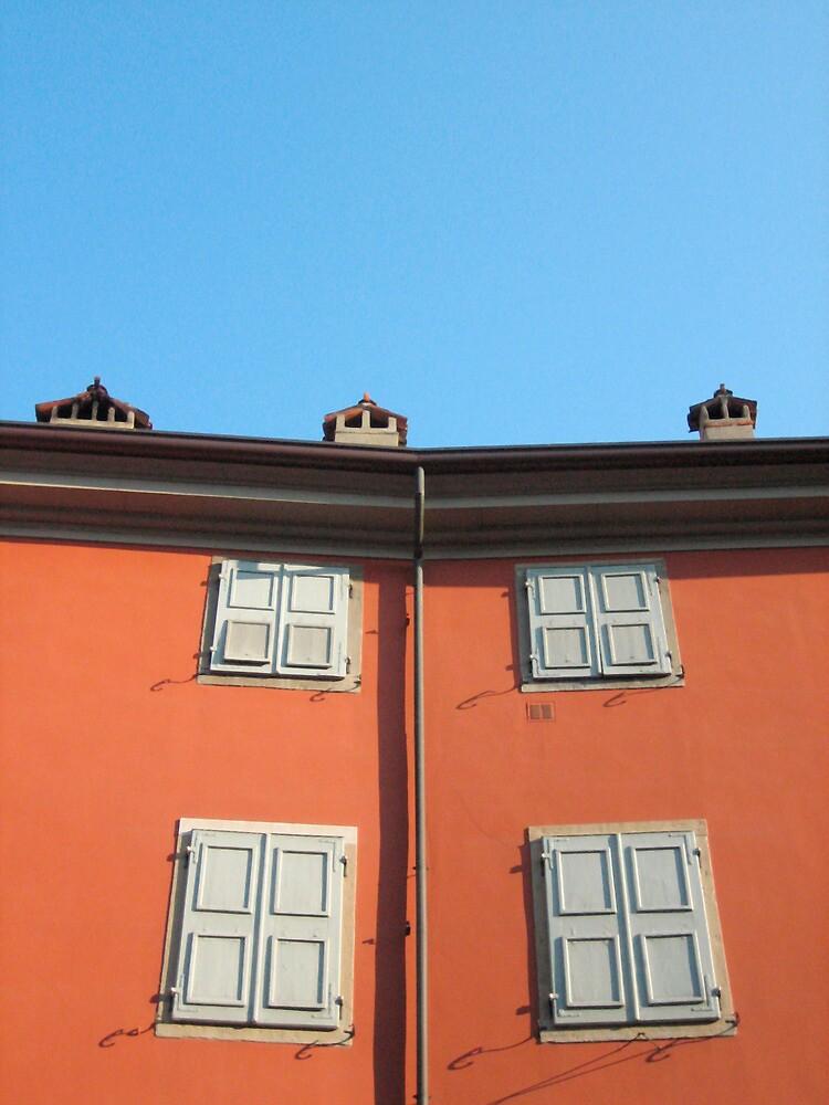 Red Building in Udine by jojobob