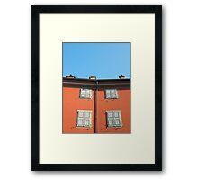 Red Building in Udine Framed Print