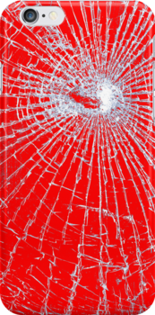 Broken Glass 2 iPad Red by Brian Carson