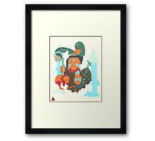 mayan print 2 Framed Print