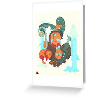 mayan print 2 Greeting Card