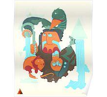 mayan print 2 Poster