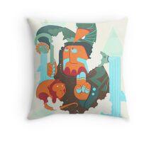 mayan print 2 Throw Pillow
