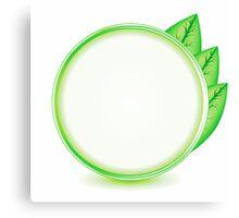 eco logo Canvas Print