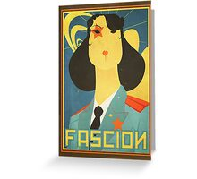 Russian constructivism print Greeting Card