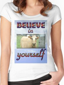 BELIEVE IN YOURSELF Women's Fitted Scoop T-Shirt