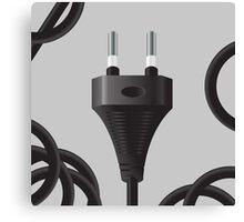 power plug Canvas Print