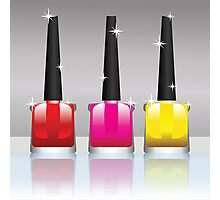 nail polish bottles Photographic Print