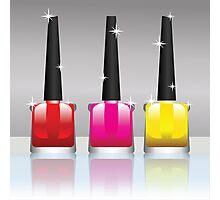 nail polish bottles Photographic Print