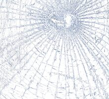 Broken Glass 2 iPhone White by Brian Carson