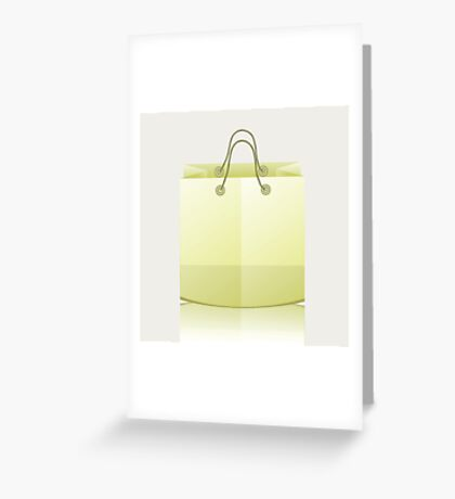 paper shopping bag Greeting Card