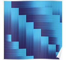 blue metallic background Poster