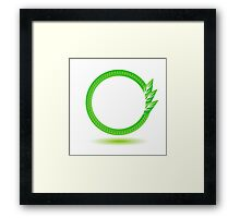 eco label Framed Print