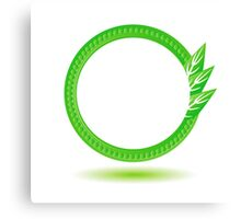 eco label Canvas Print