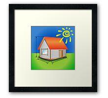 house Framed Print