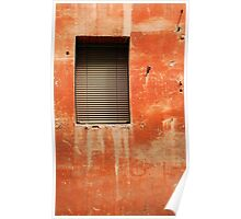Window in Red Wall Poster