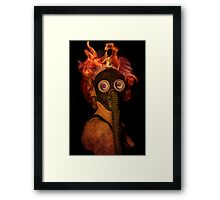 Flaming Hot Framed Print